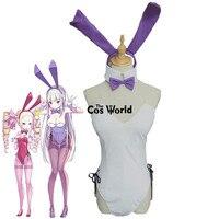 Re Zero Kara Hajimeru Isekai Seikatsu Emilia Sexy Bunny Girl Tube Tops Maid Dress Uniform Lingerie