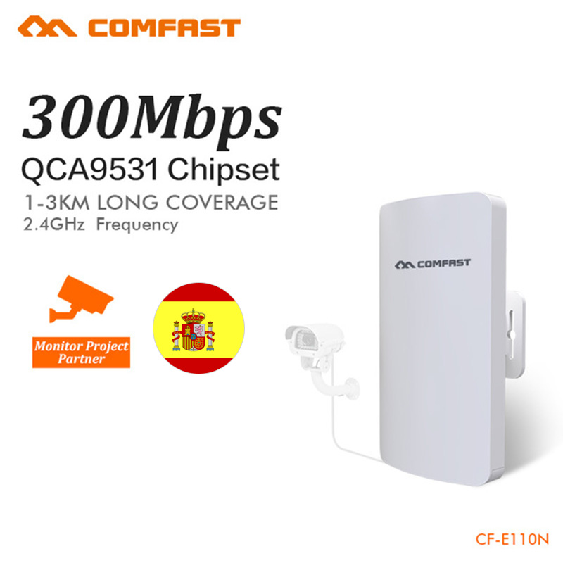 Comfast Outdoor Mini Wireless WIFI Extender Repeater AP 2.4G 300M Outdoor CPE Router WiFi Bridge Access Point AP Router CF-E110N