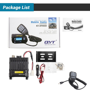 Image 2 - QYT KT 8900D 25W Montato Sul Veicolo A Due Vie Radio Aggiornamento KT 8900 Mini Mobile Radio con Quad Band LCD di Grandi Dimensioni