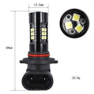 Image 4 - אור נורות עבור מכוניות 2Pcs LED ערפל אורות רכב 6500K לבן HB3 9006 3030 LED 21SMD רכב פנס ערפל קרן כוח הנורה