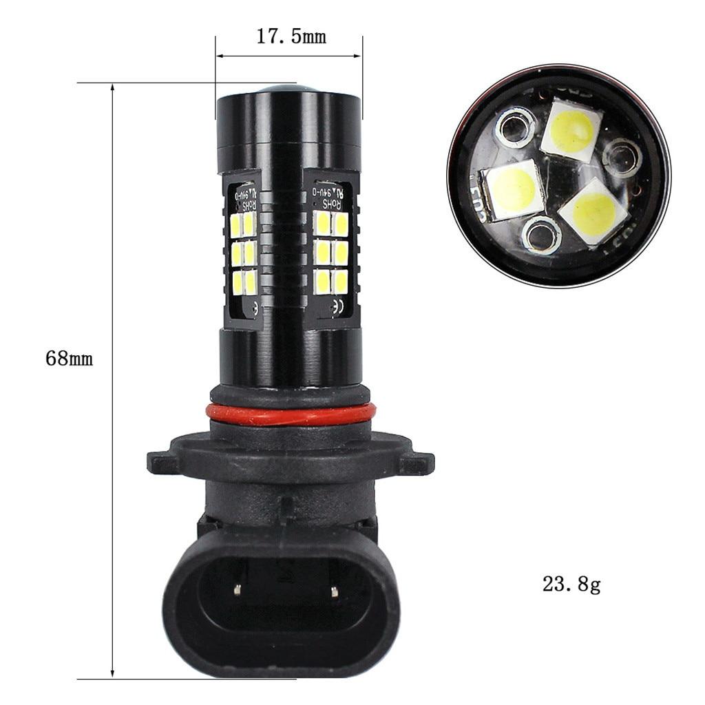 Image 4 - Light Bulbs For Cars 2Pcs LED Fog Lights For Car 6500K White HB3 9006 3030 LED 21SMD Car Headlight Fog Beam Power Bulb-in Car Fog Lamp from Automobiles & Motorcycles
