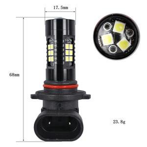 Image 4 - Light Bulbs For Cars 2Pcs LED Fog Lights For Car 6500K White HB3 9006 3030 LED 21SMD Car Headlight Fog Beam Power Bulb