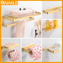 Bathroom Towel Holder Sets Brass Wall Mounted Rack Hanging Single Bar Ring Coat Robe Hook Toilet Paper