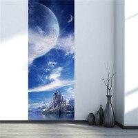 3D Fantasy Planet Naklejki Ścienne Naklejka Art Decor Vinyl Wymienny Plakat Sceny Okna Drzwi Hurtowni Darmowa Wysyłka RJL13 # A10
