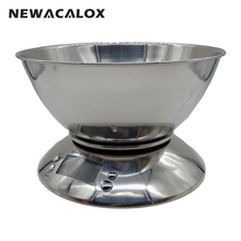NEWACALOX Cooking Tool Stainless Steel Electronic Weight Scale Food Balance Cuisine Precision Kitchen Scales with Bowl