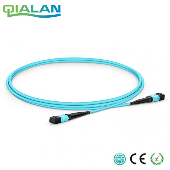 100m 12 cores MPO Fiber Patch Cable OM3 UPC jumper Female to Female Patch Cord multimode Trunk Cable Type A Type B Type C in Fiber Optic Equipments from Cellphones Telecommunications