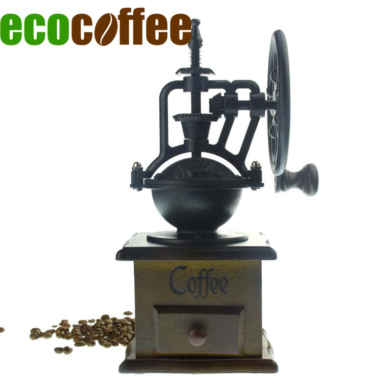 Ecocoffee Vintage manuel café en grains moulin café accessoires cuisine moulin pour café en grains 50g capacité V60 cafetière-in Moulins à café manuels from Maison & Animalerie    1