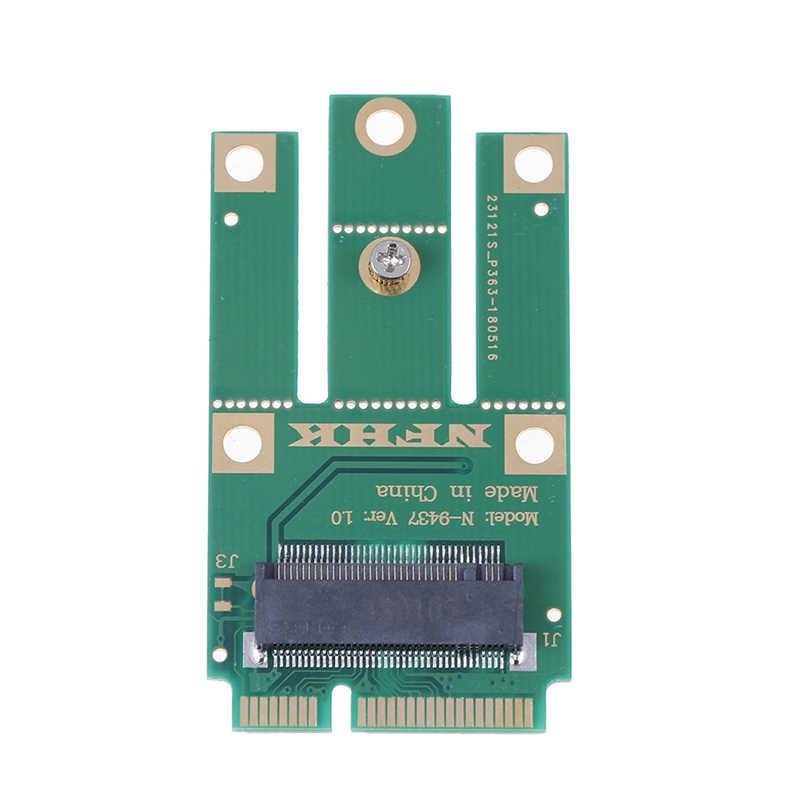 A + E Key A Key M.2 NGFF Module sans fil vers MINI adaptateur PCIE pour carte Wifi Bluetooth sans fil