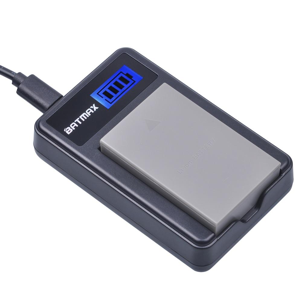 1 Pack PS-BLS5 BLS5 BLS-50 BLS50 Batteria + Caricabatterie LCD per Olympus PEN E-PL2, e-PL5, PL6, E-PL7, E-PM2, e-M10, e-M10 II, stilo 1.