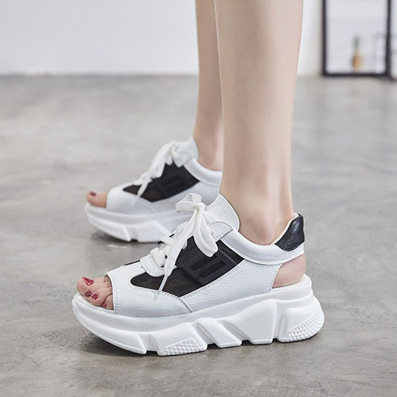 2019 Summer Women Sandals Mesh Roma Thick Sole Ulzzang Outdoor High Heel Leather Breathable Platform Shoes Casual Beach Sandals2019 Summer Women Sandals Mesh Roma Thick Sole Ulzzang Outdoor High Heel Leather Breathable Platform Shoes Casual Beach Sandals