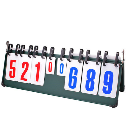 Portable Basketball Volleyball Table Tennis Football Score Board Sports Scoring Device Competition 8-Digit Scoreboard D83003