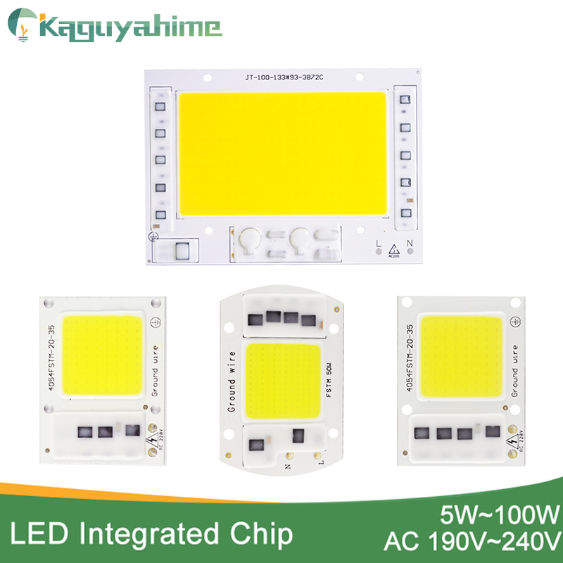 Kaguyahime LED COB Chip 20W 30W 50W 100W 220V For Spotlight Floodlight Outdoor Lamp No Need Driver Integrated Chip DIY LED Chip