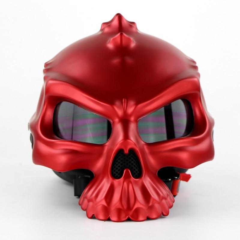 NEW Open Face Helmet Skull Motorcycle Helmet Retro Motorbike Half Face racing Helmet Moto Helmets цена