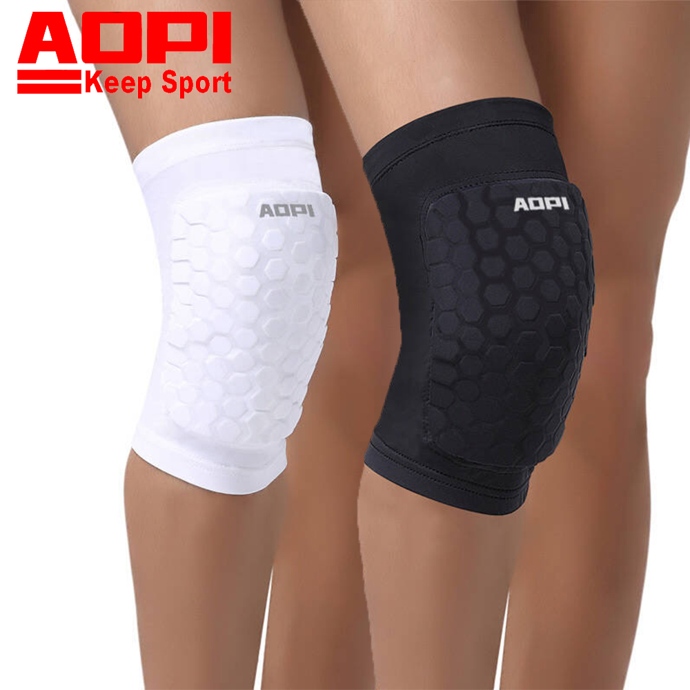AOPI Brand Basketball Knee Pads Compression Socks Knee Wraps Elbow Brace Support Lap Knee Pad for Training Football Sport Safety