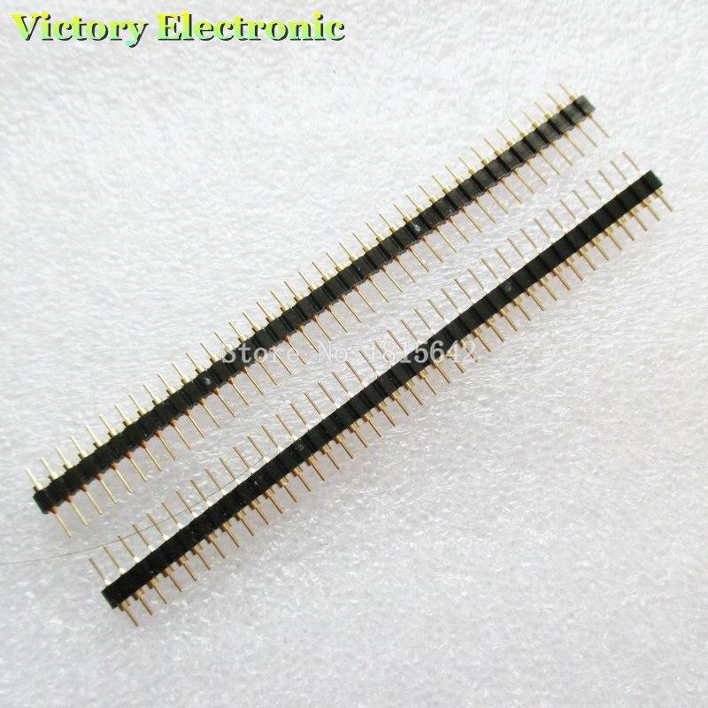 10-pCs-lote-banhado-a-ouro-254mm-macho-de-40-pinos-Unica-linha-reta-rodada-pin-header-faixa