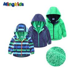 UmkaUmka par Mingkids Haute qualité coupe-vent veste pour garçons imperméable avec doublure polaire Soft Shell extérieure imperméable Sport