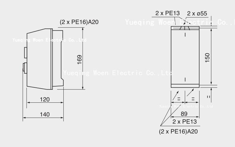 interruptor de partida do motor QCX2-09 protetor do motor 9a