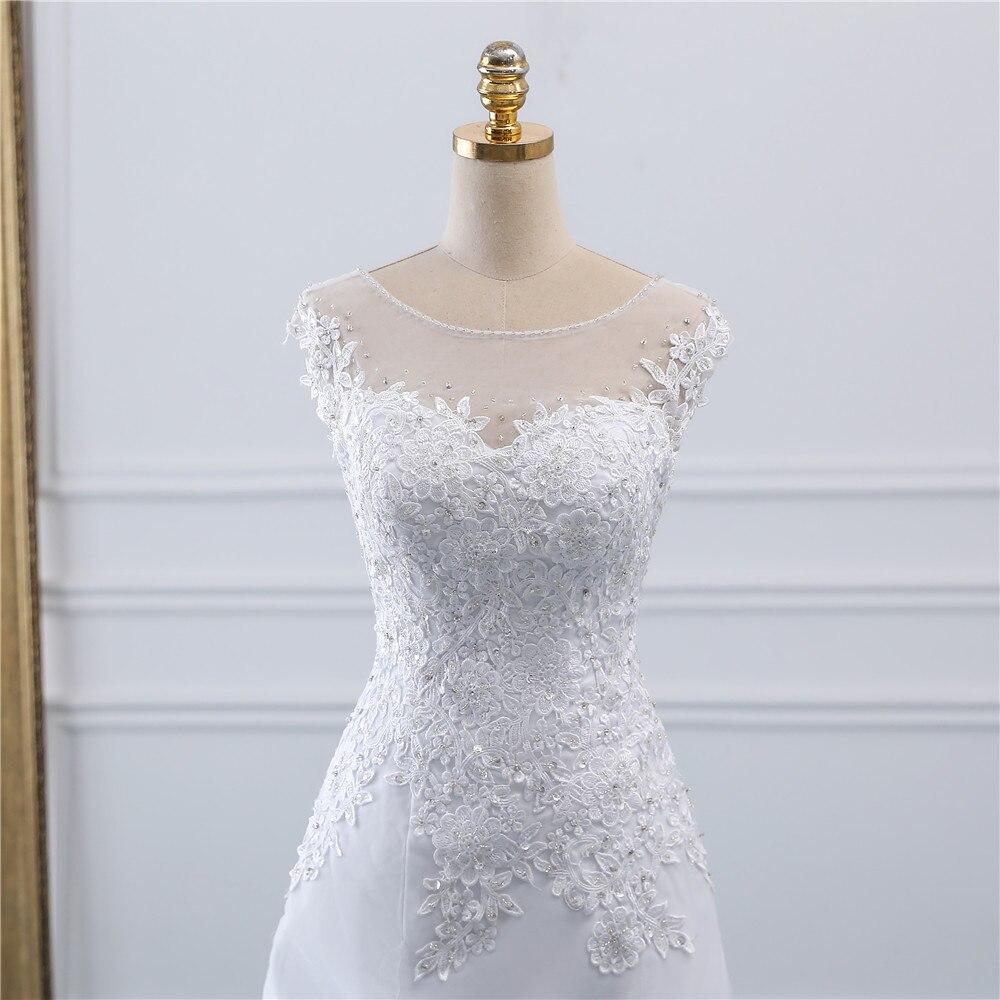 Fansmile New Arrival Vestidos De Novia A-Line Wedding Dresses 2020 Plus Size Customized Princess Wedding Bride Dress FSM-014M