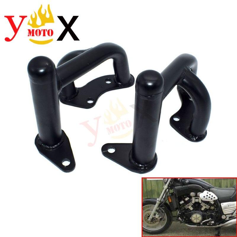 Moto noir gauche & droite Crash Bar moteur garde côté cadre Protection pour Yamaha VMAX 1200 VMAX1200 V-MAX 1991-2007