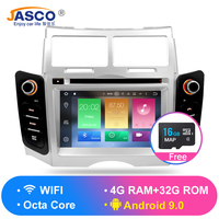 Android 9.0 Car DVD Stereo Multimedia Headunitfor TOYOTA YARIS 2005 2011 Auto PC Radio GPS Navigation Video Audio 4G RAM 32G