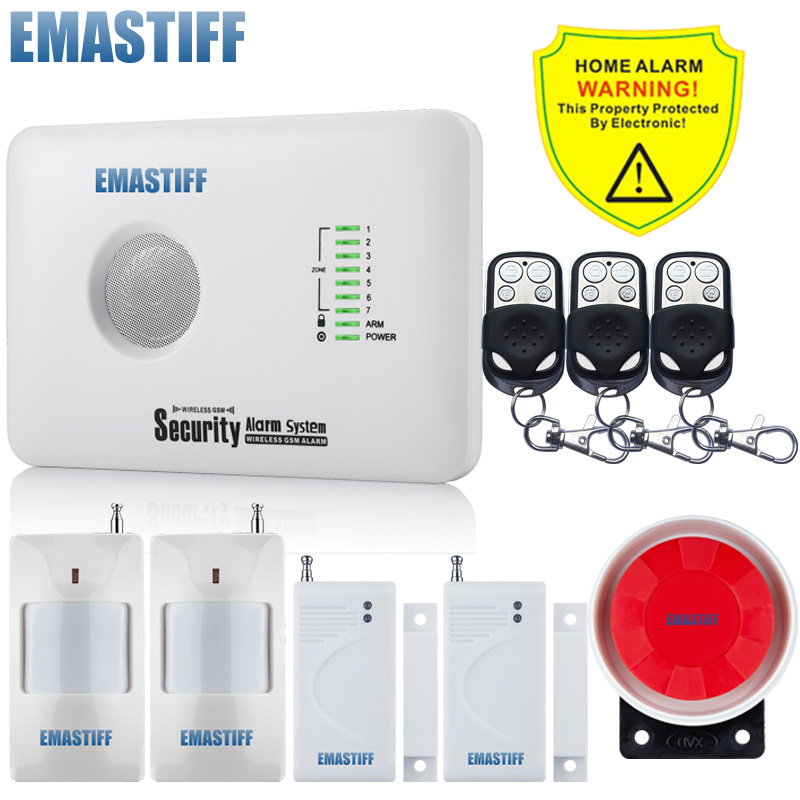 где купить free shipping security home GSM alarm system with English ,russian language andriod & IOS APP control relay out put дешево