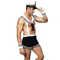 Yufeila Hot Sexy Men's Lingerie Erotic Cosplay Costumes Role Play Exotic Sailor Costume Navy Soliders Uniform Hot Jumpsuits Sex