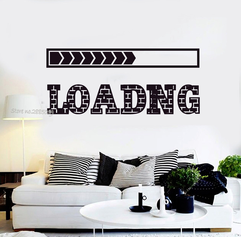 Hot Sale Vinyl Wall Decals Loading Video Games Play Teen Room Gaming Wall  Stickers Home Interior Decor Wallpaper Art Mural LA582 In Wall Stickers  From Home ...