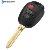 Neverland 3 Buttons Auto Car Keyless Entry Remote Key Shell Case Fob 314Mhz HYQ12BDM Chip For