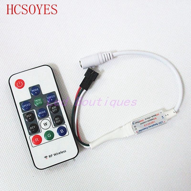 14 Keys Rf Ir Remote Rgb Wireless Led Controller For