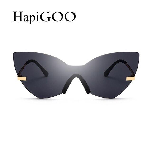Mode Dame Sans Monture Cat Eye lunettes de Soleil Femmes 2018 New Italie  Marque Designer Intégré e19c2d4f7a82