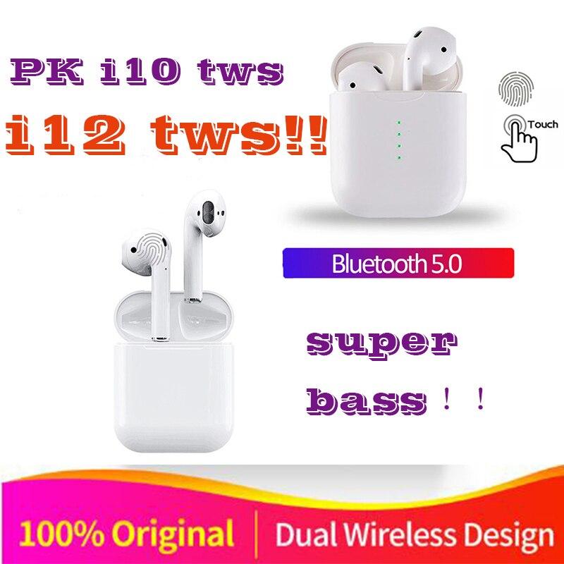 Original i12 TWS 1:1 Air pods Wireless Bluetooth 5.0 super stereo bass earbuds P