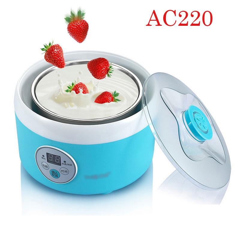 New Arrival High Quality 1 L Automatic Yogurt Maker Electric Buttermilk Sour Cream Making Machine Rice Wine + Natto Maker