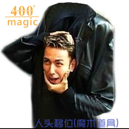 Scary Magic Head Movement Head Drop Good effect Magic trick Props Instruction Vedio Srage tricks Fun Toys street magic 400magic ...