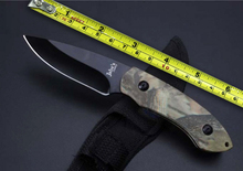 NEW Challenger Camping Small Fixed Knives,5Cr15Mov Blade Color Wood Handle Survival Rescue Knife.