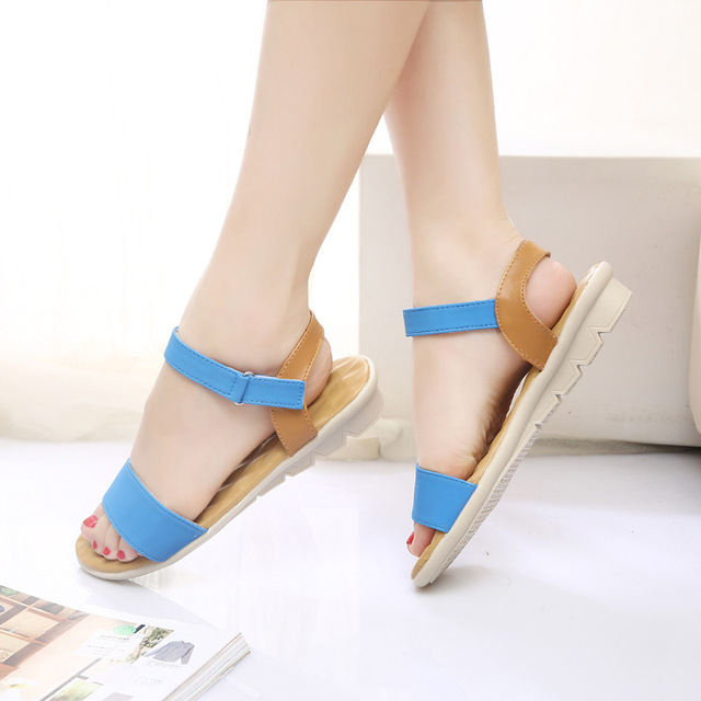 Women Flat Sandals 2017 Fashion Women Summer Shoes Wedge Sandals Ladies Shoes Brand Sandalias Chaussure Femme
