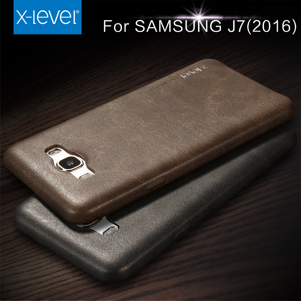 X-level Free Shipping Cowboy Ultra thin Nostalgia PU leather phone case for samsung galaxy J7 J7 2016 case luxury back cover