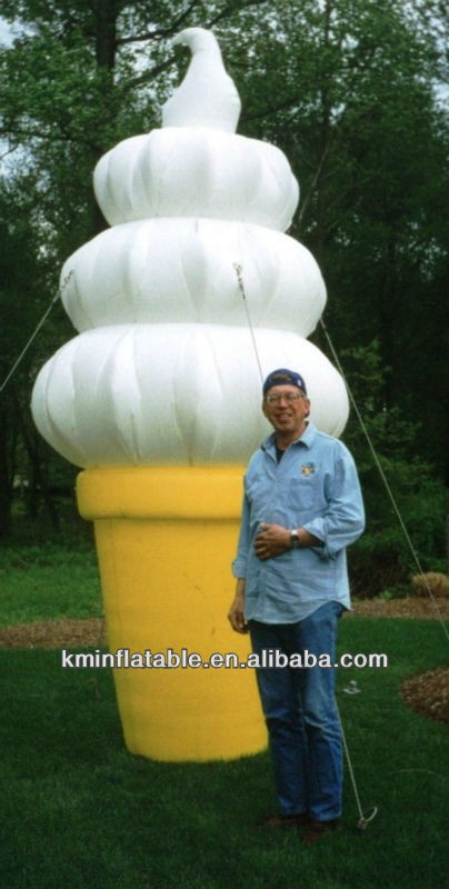 free shipping 10ft 3m tall inflatable ice cream cone