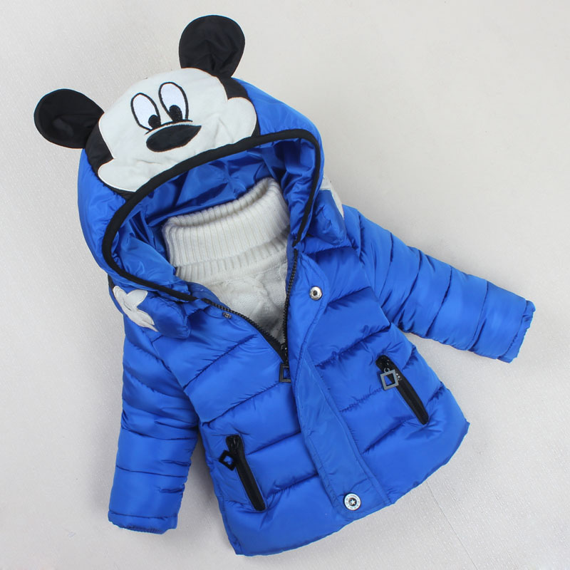 Baby Children Winter Warm Jacket Toddler Girls Fashion Thick Warm Clothing Boys Girls Cartoon Hooded Coat Kids Cotton Clothes children winter coats jacket baby boys warm outerwear thickening outdoors kids snow proof coat parkas cotton padded clothes