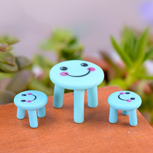 ZOCDOU 2 Pieces Cartoon Accessories Expressive Table Chair Small Figurine Exhibit Crafts Figure Ornament Miniatures Home Deco(China)