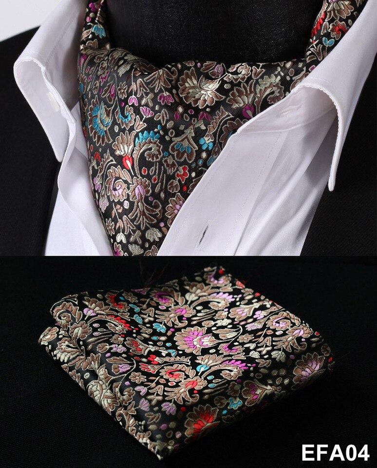 Men/'s Ascot Paisley Classic Tie Wedding Silk Cravat Jacquard Woven Party Necktie