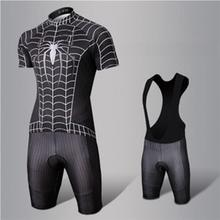Men Cycling Clothing Cool Superhero Cycling Wear Batman Superman Spider-Man Bibs Cycling Jersey short bike clothin