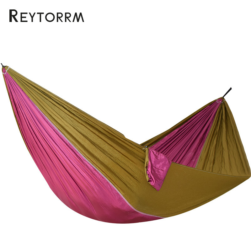 Ultralight Travel Parachute Hammock With Straps Carabiners Hanging Sleeping Hamac 1-2 Person Outdoor Hamak Furniture Bed outdoor double hammock portable parachute cloth 2 person hamaca hamak rede garden hanging chair sleeping travel swing hamac