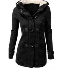 Fashion long trench coat for women spring winter overcoat female long hooded hor