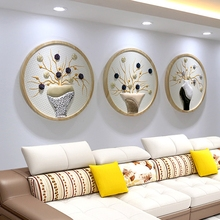 Restaurant decorative painting Modern manual diningroom Meter box Occlusion 3D round PU core Triptych