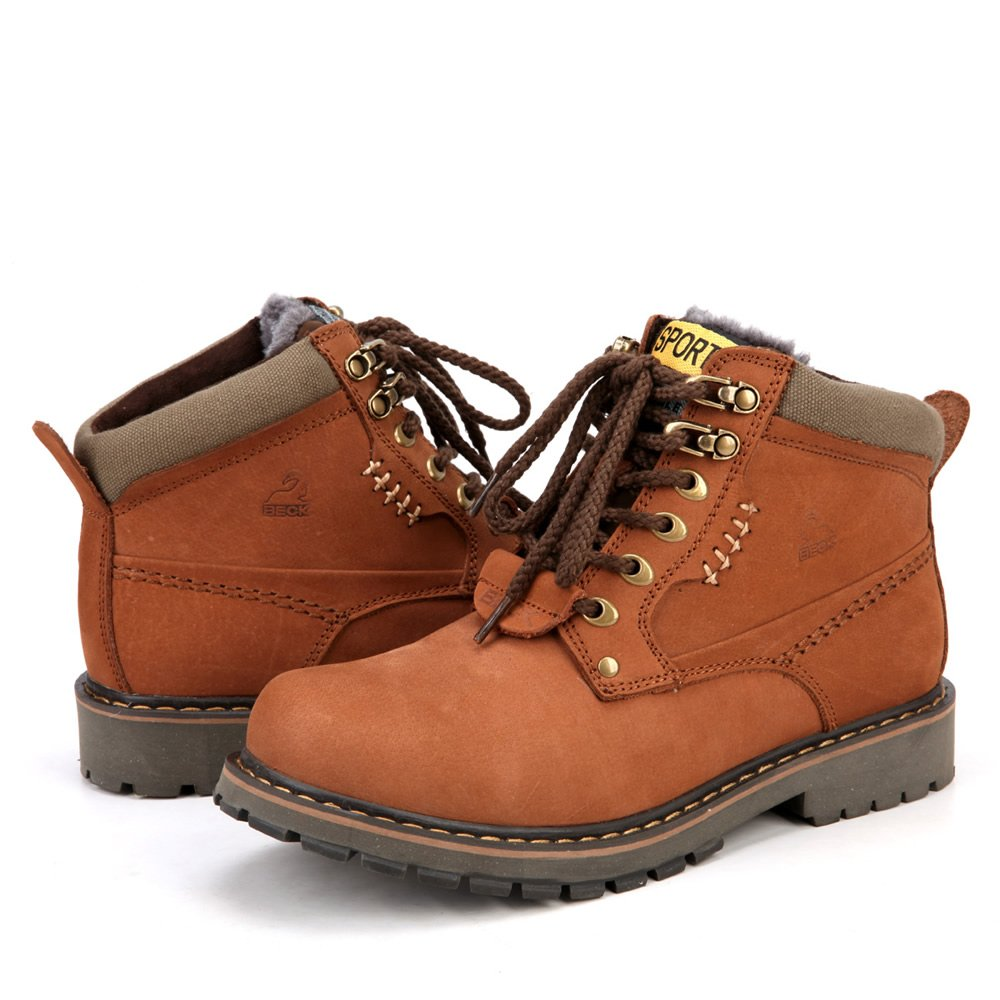 New style winter leather outdoor shoes for men keep warm ...