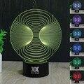 Free Shipping 1Piece Creative abstract 14 3D Desk Lamp Amazing  Night Light Lampada de parede Xmas Gift Table Lamp