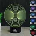 Free envio 1 peça criativa abstrata 14 3d surpreendente night light lampada de parede lâmpada de mesa candeeiro de mesa de presente de natal