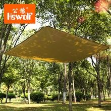 Hewolf 180*145CM ultralight waterproof 2 person use awning sun shelter picnic mat Oxford cloth outdoor tarp