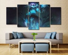 Warwick League of Legends Game HD Print Paintings on Canvas Wall Art Home Decorations 5 Piece Painting
