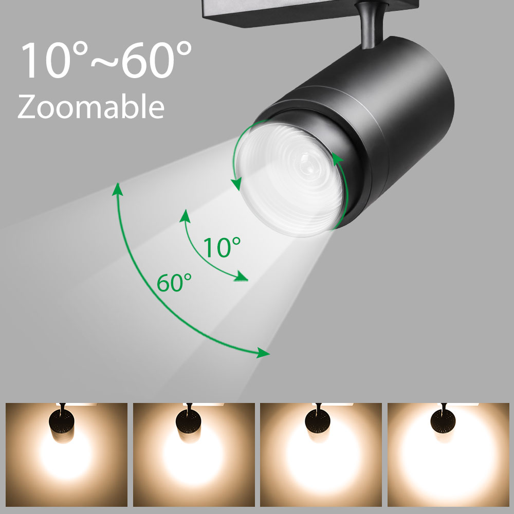 Track Lamp Zoomable 12W 20W 30W Adjustable Beam Angle COB LED Rail Clothing Shoes Shop Exhibition